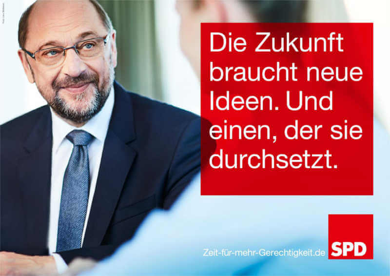 Wahlplakat von Martin Schulz zur Bundestagswahl