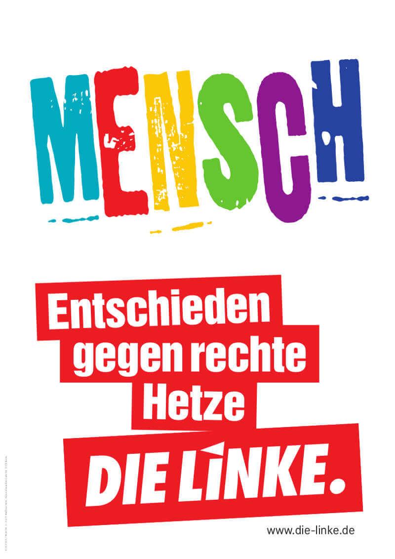 """Wahlplakat von """"Die Linke"""" zur Bundestagswahl 2017"""